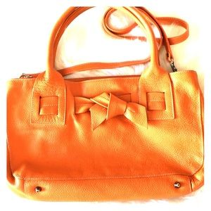Gorgeous Vera Pelle orange leather bag